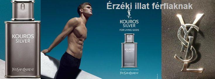 Yves Saint Laurent Kouros Silver férfi parfüm  Érzéki illat férfiaknak, mely a modern vonalat képviseli.   http://www.parfumdivat.hu/parfumdivathazak/yves-saint-lauren-kouros-silvert-ferfi-parfum.html