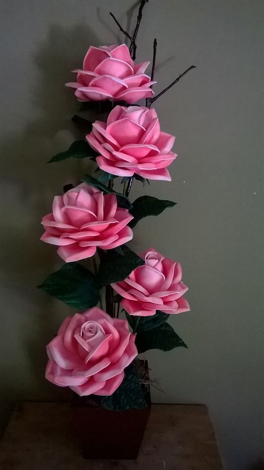 Dekorace - kytice z růží * z papíru ♥