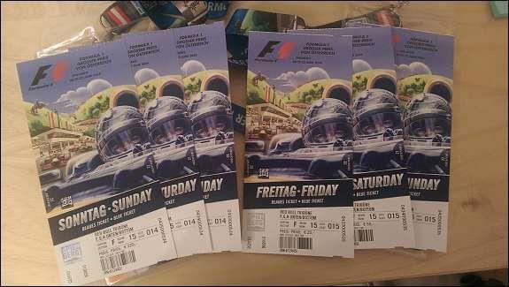 Tickets für den Formel 1-GP von Österreich