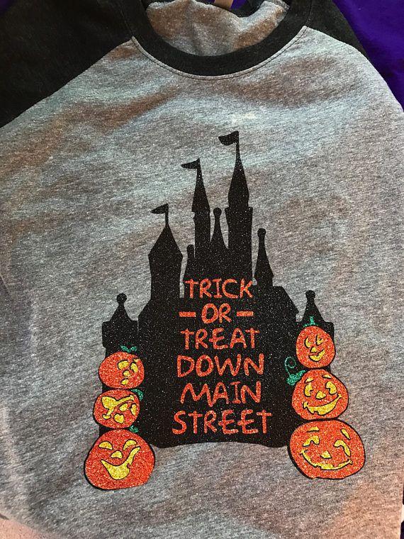 Trick or Treat Down Main Street // Disney Halloween Shirt //