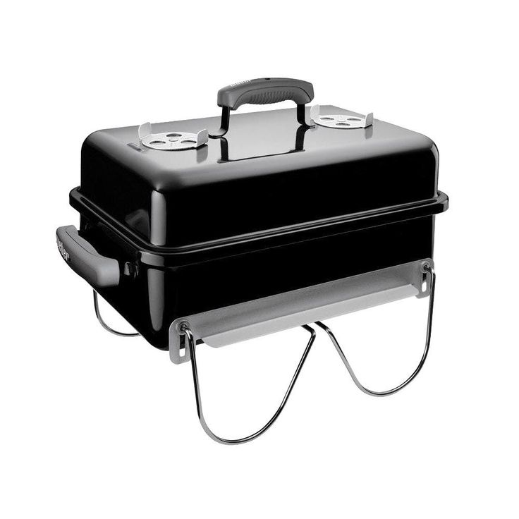 Weber Go-Anywhere Portable Charcoal Grill, Black