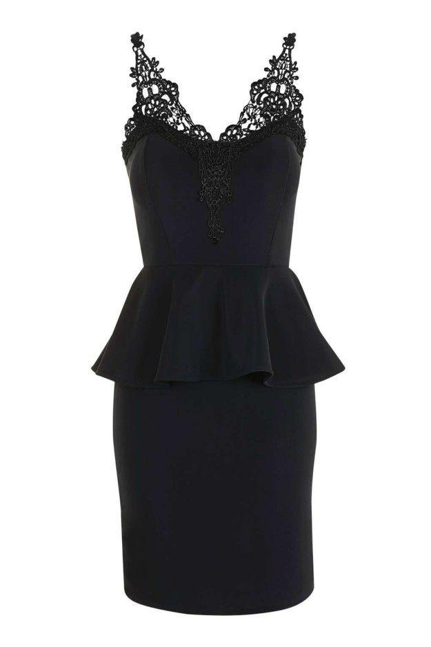 17  ideas about Black Peplum Dresses on Pinterest - Zara black ...