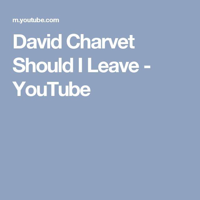 David Charvet   Should I Leave - YouTube
