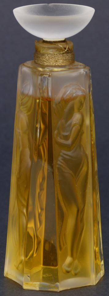 LALIQUE 1994 FRENCH CRYSTAL 'LES MUSES' BOTTLE