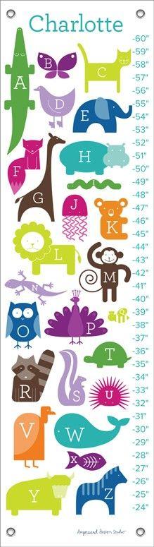 ABC Animalia Rainbow Growth Chart
