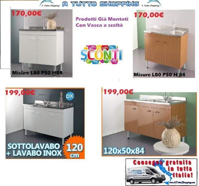 Lavelli completi e mobili per cucina