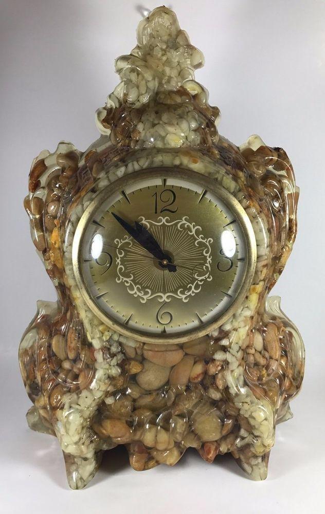 Vintage Rock Pebble Clock by Clock Movement by Lanshire  #ClockMovementbyLanshire #Nautical
