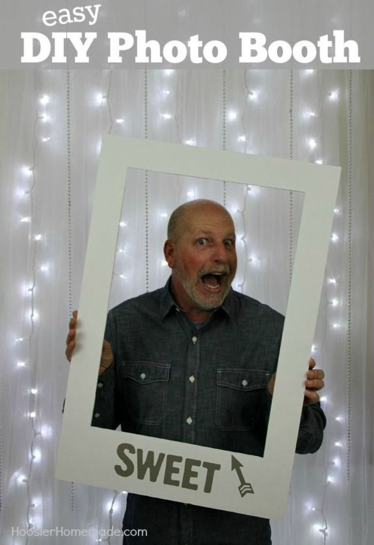 Learn how to make your own EASY Photo Booth for holidays, weddings, showers, birthdays and more! It's easy and inexpensive too!