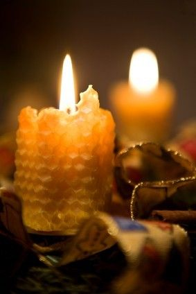 ...♥candlelight...only use 100% beeswax candles they produce negative ions which clean the air.
