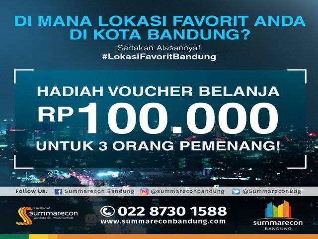 Summarecon Quiz Berhadiah 3 Voucher Belanja 100ribu - Summarecon Bandung mengadakan kuis berhadiah voucher belanja di akun resmi Twitter. Yuk ikutan kuisnya
