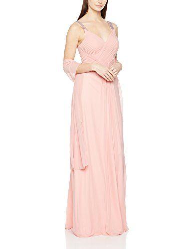 9a014b46d13e Mascara Beaded Cross Pleat Robe de soirée Femme (Dusty Rose) 44 ...