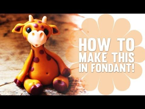 Fondant Cake Toppers #12: Learn how to make a cute Fondant Giraffe - tutorial - CakesDecor