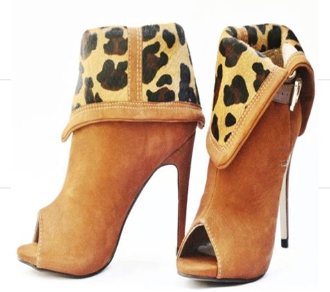 Name: Ginger Leopard Print Inverted Ankle Boots Price: $69.99