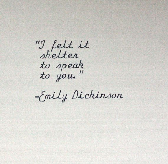 EMILY DICKINSON quote typed on a vintage typewriter by InThisRoom