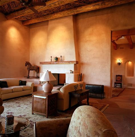 @claymineadobe clay plaster interior finish living room