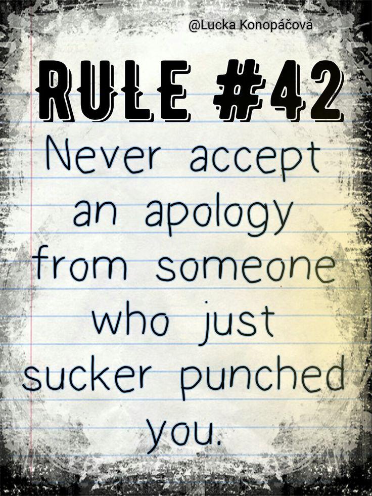 NCIS Gibbs rule #42
