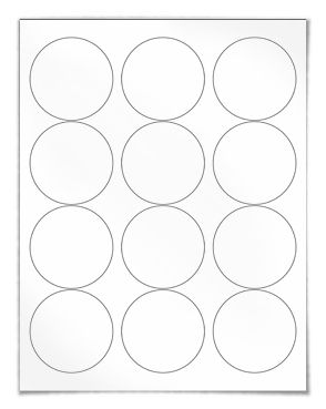 """Free blank label template download: WL-350 round label template in Word .doc, PDF and other formats. Round label template. View here: http://www.worldlabel.com/Pages/wl-ol350.htm  Size: 2.5"""" Circle       Labels per sheet: 12   Intended use: General"""