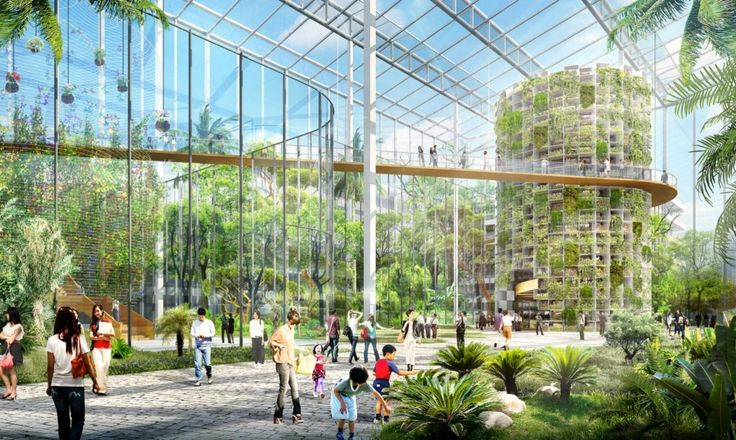International architecture firm Sasaki just unveiled plans for a spectacular 100 hectare urban farm set amidst the soaring skyscapers of Shanghai.