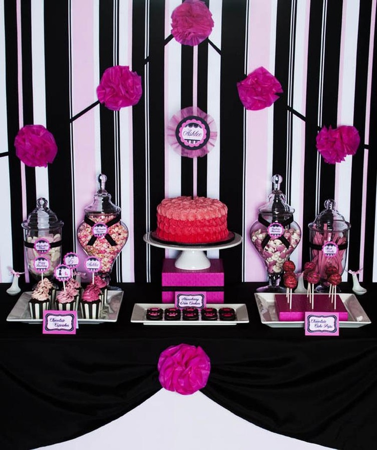 140 best images about Pink and Black Party Inspiration on