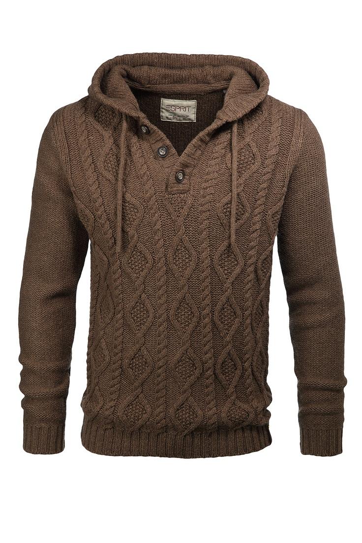 Esprit Men's Pullover Hoodie Sweater.