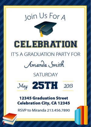 10 best sample graduation invitation images on pinterest use a free printable graduation invitation template to make a custom graduation party invite that includes all your custom party details stopboris Gallery