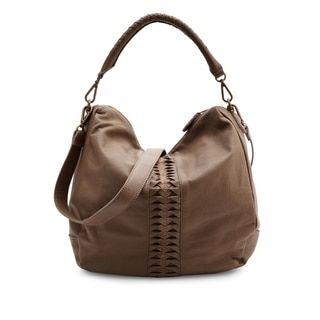 Liebeskind Berlin Niva Brown Leather Lasercut Hobo Handbag | Overstock.com Shopping - The Best Deals on Hobo Bags