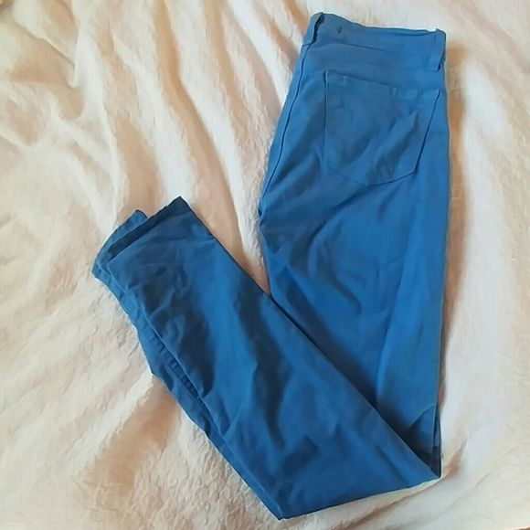 J Brand bright blue jeans Bright blue jeans. Worn once, in great condition. J Brand Pants Skinny