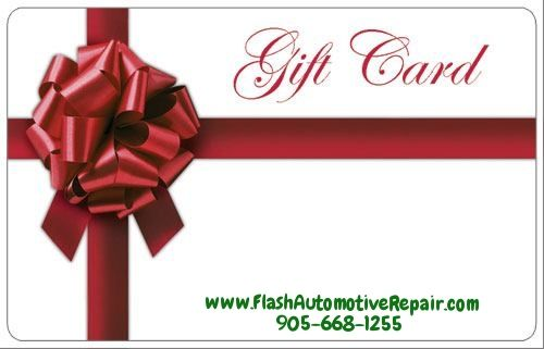 Time to Start Thinking About #Christmas Shopping.. VISIT US, we are OPEN daily at 7 to 6pm (and Sat 8 to 4pm). Flash Automotive Repair #Gift Cards make perfect holiday gifts for everyone on your list!