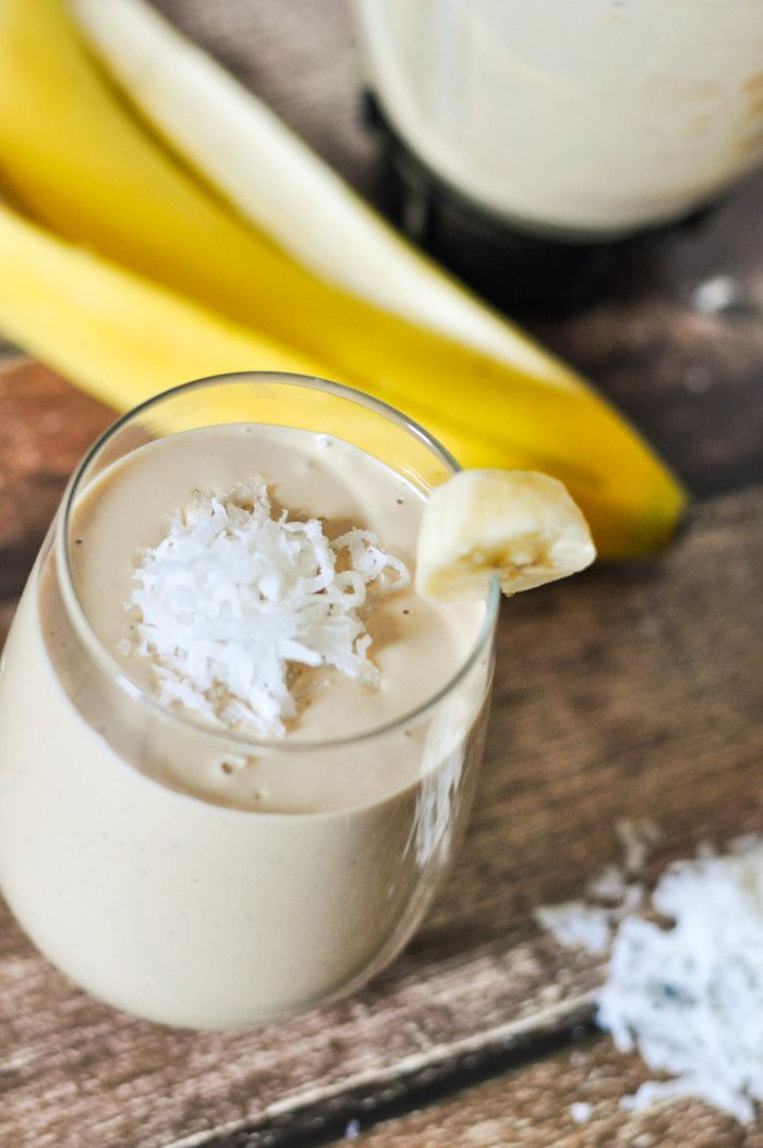 Satisfying Peanut Butter Coconut Smoothie Recipe - a rich and creamy smoothie recipe that pairs salty with the perfect touch of sweet.