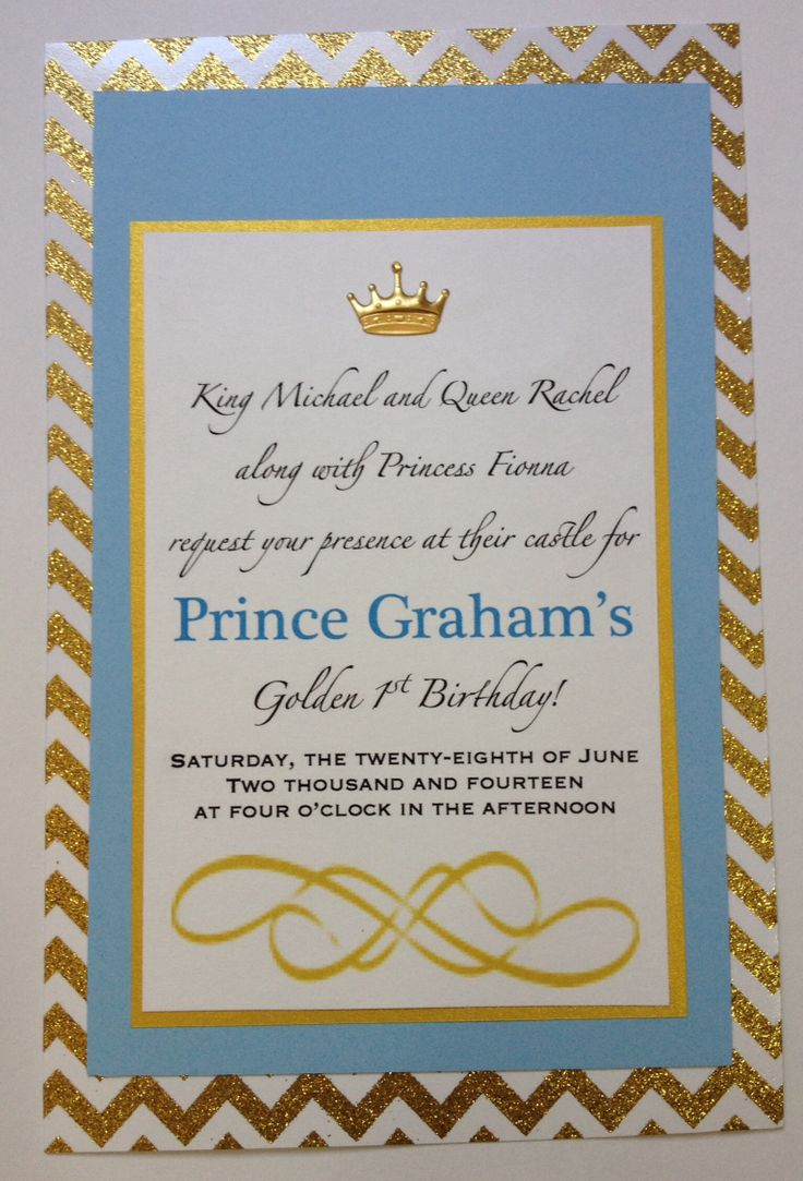 17 best Invitation images – Prince 1st Birthday Invitations