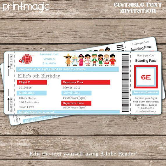 Airline Ticket Invitation Airline Ticket ArchivesAirline Ticket – Airline Ticket Invitation