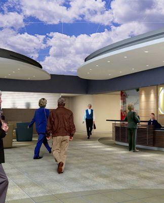 Hospital Lobby Ceilings Wall Murals Artificial Sky