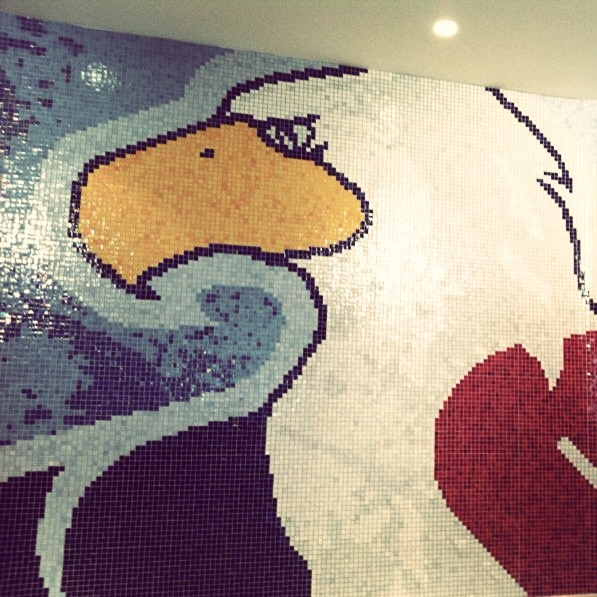 Place to relax - private SPA and our beautiful mosaic logo #hcslovan