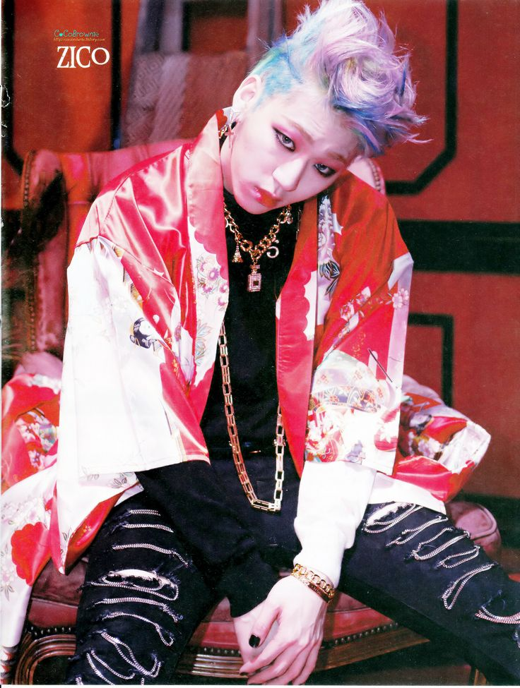 It's funny how Zico can pull off that makeup WAAAAY better than I ever could... -_-