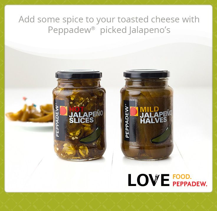 Add some spice to your toasted cheese with Peppadew®  pickled Jalapenos.