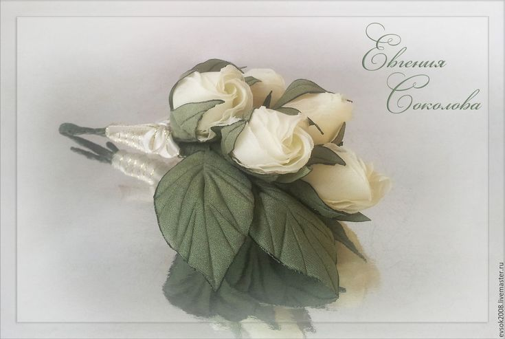 Купить Бутоньерка для жениха Белые розы - белый, свадебные аксессуары, свадебное украшение, свадебные украшения