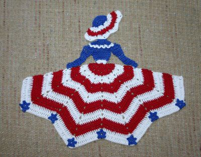 Crinoline Patriotic Girl Doily Larger Image