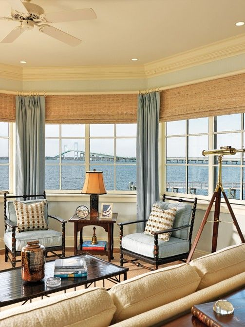 151 best waterfront homes images on pinterest architects for Sunroom blinds ideas