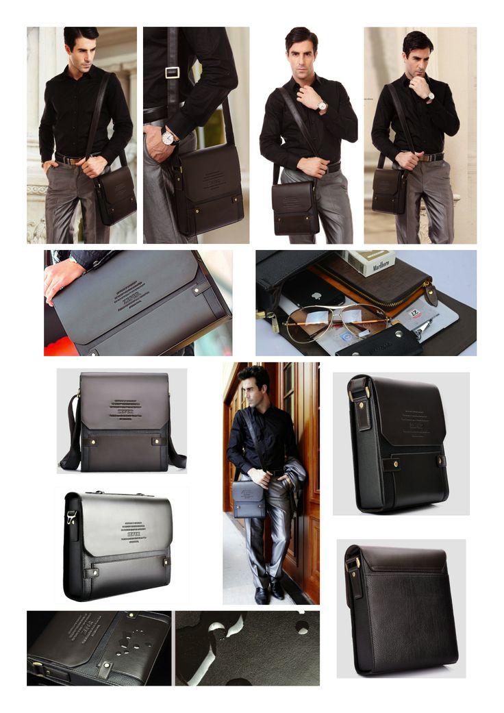 Amplio y cómodo bolso formal para hombre. Material Cuero PU. Buen diseño. Cuenta con una correa ajustable para el hombro.