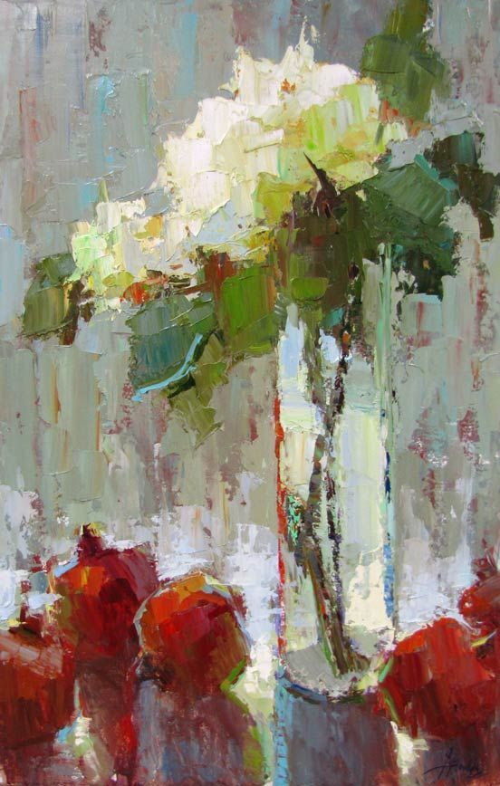 acrylic paintings of watercolor white flowers - Google Search