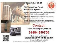 Do your water pipes and troughs freeze in winter? Equine-Heat DIY Water Pipe Frost Protection Kits Stable Accessories for sale in Huddersfield, West Yorkshire, North East :: Horsemart