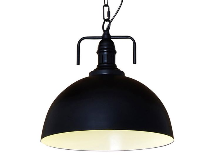 Lampa Loft One na Łańcuchu Czarna 40 cm Italhouse.pl