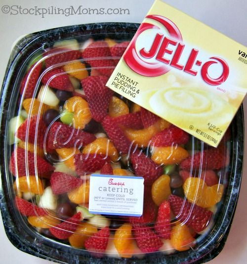 Easy Fruit Salad using jell-o pudding mix! #jell-o #fruitsalad