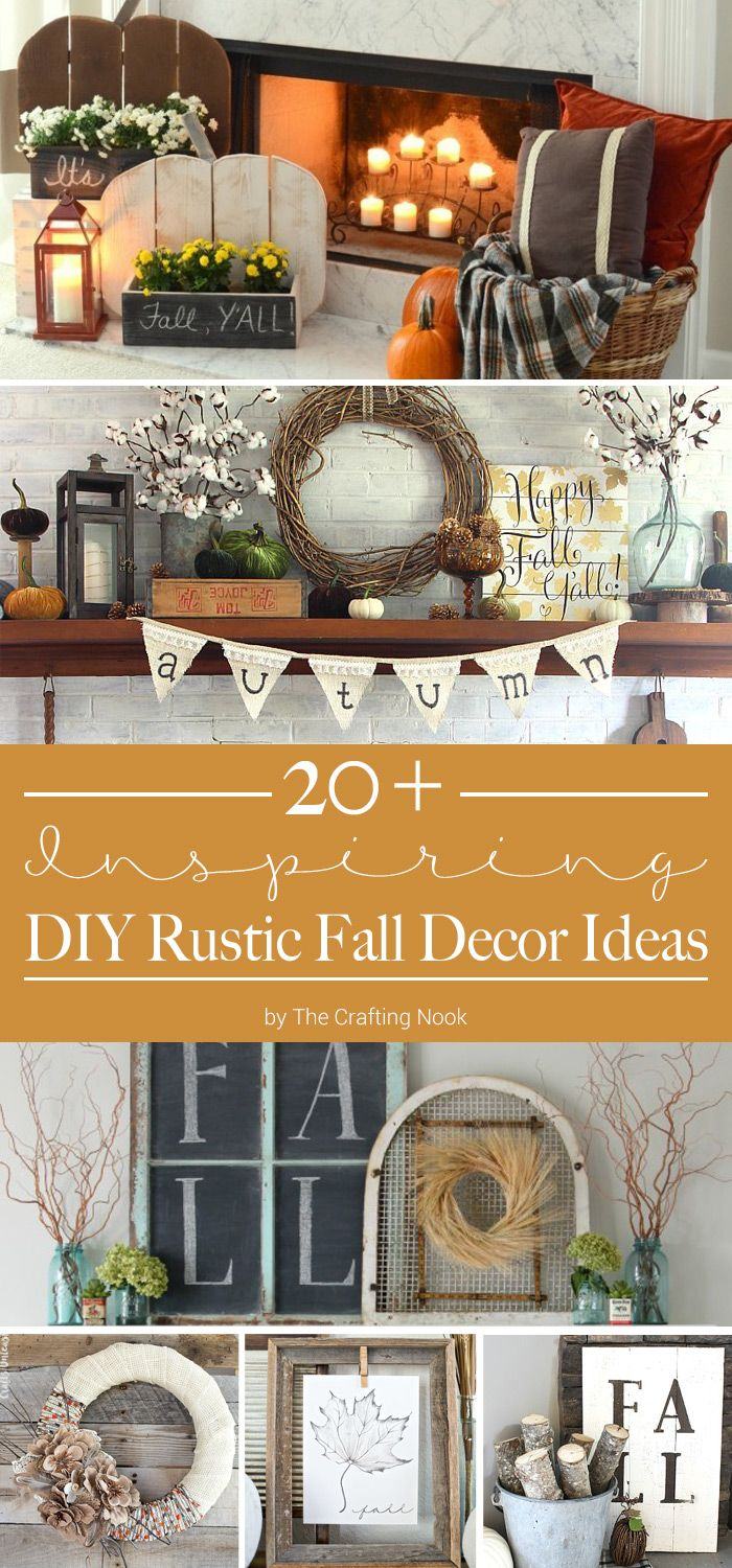 Happy Fall Y'all! Celebrate the arrival of the new season by decorating your home with some rustic fall decor. These DIY Rustic Fall Decor Ideas are just what you need to add some seasonal vibes to your space—from ways to decorate your mantle to autumn wreaths and wall art. The fall decorating possibilities are endless!
