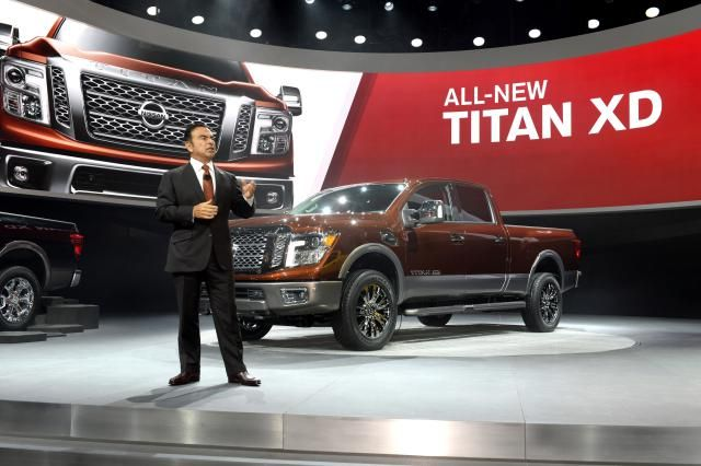 Birth of the Nissan's 2016 Titan XD: Nissan's 2016 Titan XD at the North American International Auto Show