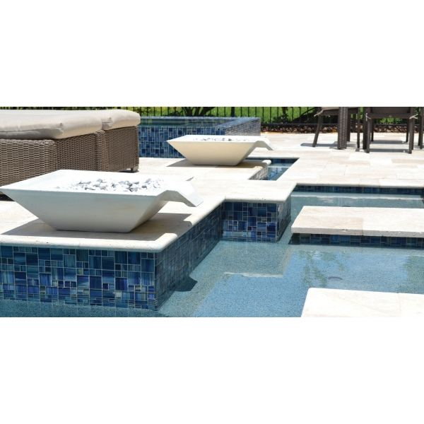 Blue Mixed Watercolors Series Glass Pool Tile Swimming Pool