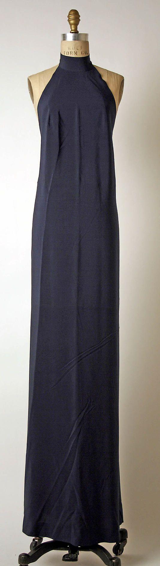 Dress, Evening  Madame Grès (Alix Barton)  (French, Paris 1903–1993 Var region)   Date:late 1960s–mid-1980s