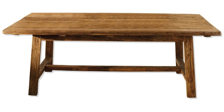Mesa de comedor en madera lavada muebles for Muebles de comedor mesas