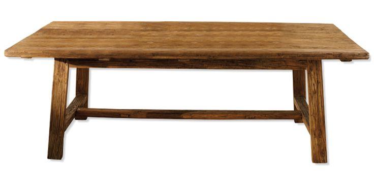 Mesa de comedor en madera lavada muebles - Muebles baratos palma de mallorca ...