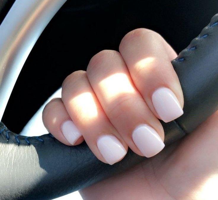 Manicura Natural Short Acrylic Nails Gel Nails Diy White Acrylic Nails